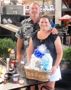 Wilma and Dennis Hardin, winners of the Belterra Gift Basket