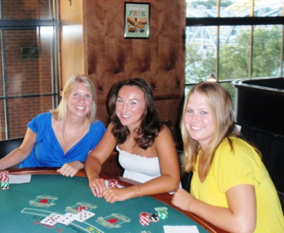 The First gamblin' gals to arrive