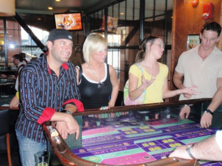 The Craps table was a hit!